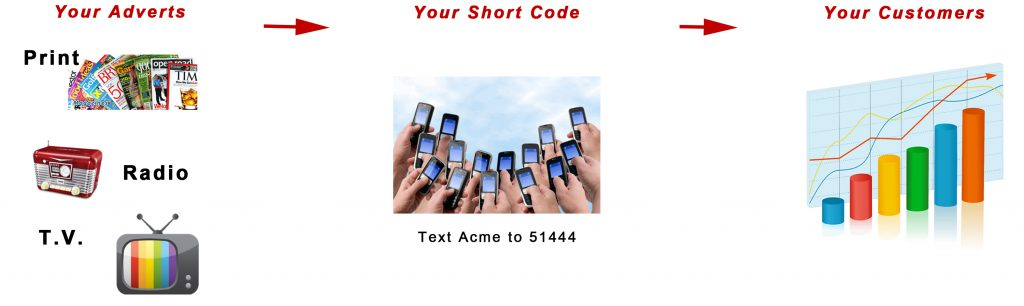 Adding Mobile Short Codes to your advertising drastically increases the return on investments ( ROI )
